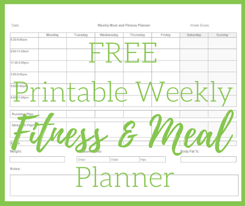Weekly Workout Plan - Free Workout Planner Printable - The ...